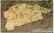 Satellite 3D Map of Guelma, darken