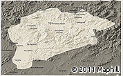Shaded Relief 3D Map of Guelma, darken