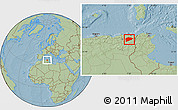 Savanna Style Location Map of Guelma, hill shading