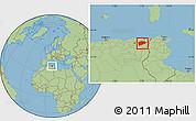 Savanna Style Location Map of Guelma