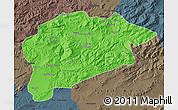 Political Map of Guelma, darken, semi-desaturated
