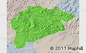 Political Map of Guelma, lighten, semi-desaturated