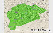 Political Map of Guelma, shaded relief outside