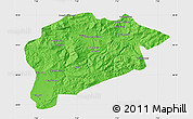 Political Map of Guelma, single color outside