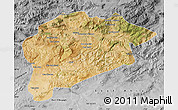 Satellite Map of Guelma, desaturated