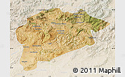 Satellite Map of Guelma, lighten