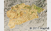 Satellite Map of Guelma, semi-desaturated