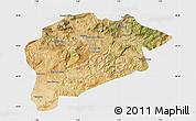 Satellite Map of Guelma, single color outside