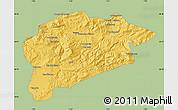 Savanna Style Map of Guelma, single color outside