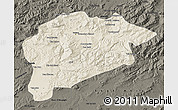 Shaded Relief Map of Guelma, darken