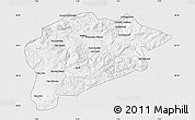 Silver Style Map of Guelma, single color outside