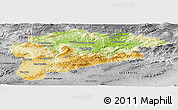 Physical Panoramic Map of Guelma, desaturated