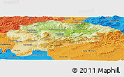 Physical Panoramic Map of Guelma, political outside