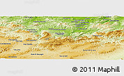 Physical Panoramic Map of Guelma
