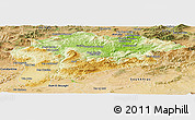 Physical Panoramic Map of Guelma, satellite outside