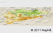 Physical Panoramic Map of Guelma, shaded relief outside