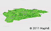 Political Panoramic Map of Guelma, cropped outside