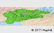 Political Panoramic Map of Guelma, lighten