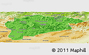 Political Panoramic Map of Guelma, physical outside