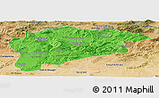 Political Panoramic Map of Guelma, satellite outside