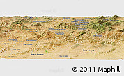 Satellite Panoramic Map of Guelma