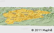 Savanna Style Panoramic Map of Guelma