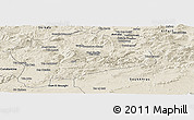 Shaded Relief Panoramic Map of Guelma