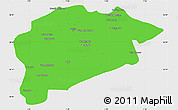 Political Simple Map of Guelma, single color outside