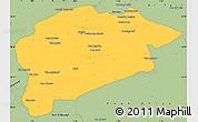 Savanna Style Simple Map of Guelma