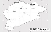 Silver Style Simple Map of Guelma, cropped outside