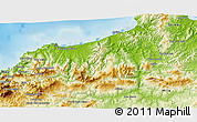 Physical 3D Map of Jijel