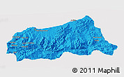 Political 3D Map of Jijel, cropped outside