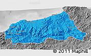 Political 3D Map of Jijel, desaturated