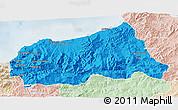 Political 3D Map of Jijel, lighten