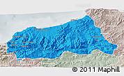 Political 3D Map of Jijel, lighten, semi-desaturated