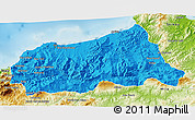 Political 3D Map of Jijel, physical outside