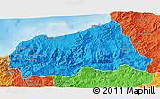 Political 3D Map of Jijel