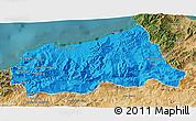 Political 3D Map of Jijel, satellite outside