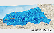 Political 3D Map of Jijel, shaded relief outside
