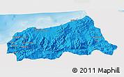 Political 3D Map of Jijel, single color outside