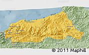 Savanna Style 3D Map of Jijel