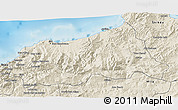 Shaded Relief 3D Map of Jijel
