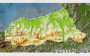 Physical Map of Jijel, darken