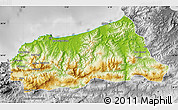 Physical Map of Jijel, desaturated