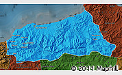 Political Map of Jijel, darken