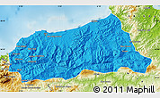 Political Map of Jijel, physical outside