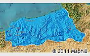 Political Map of Jijel, satellite outside
