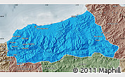 Political Map of Jijel, semi-desaturated