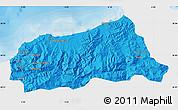 Political Map of Jijel, single color outside
