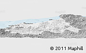 Gray Panoramic Map of Jijel